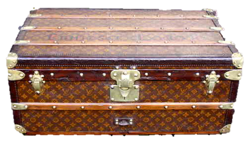 antique louis vuitton malle cabine comtesse lakar pinth vintage luggage. Black Bedroom Furniture Sets. Home Design Ideas