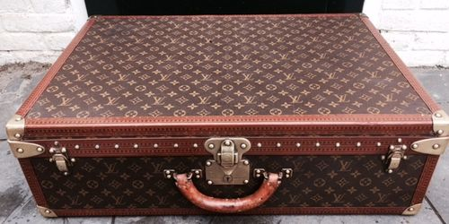 vintage louis vuitton alzer 70 suitcase pinth vintage luggage. Black Bedroom Furniture Sets. Home Design Ideas