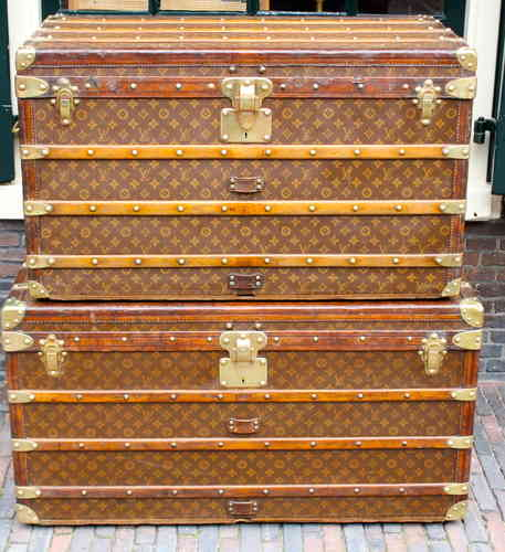 Lv Trunk Coffee Table: Antique Louis Vuitton Coffee Table Trunk CdP-90cm
