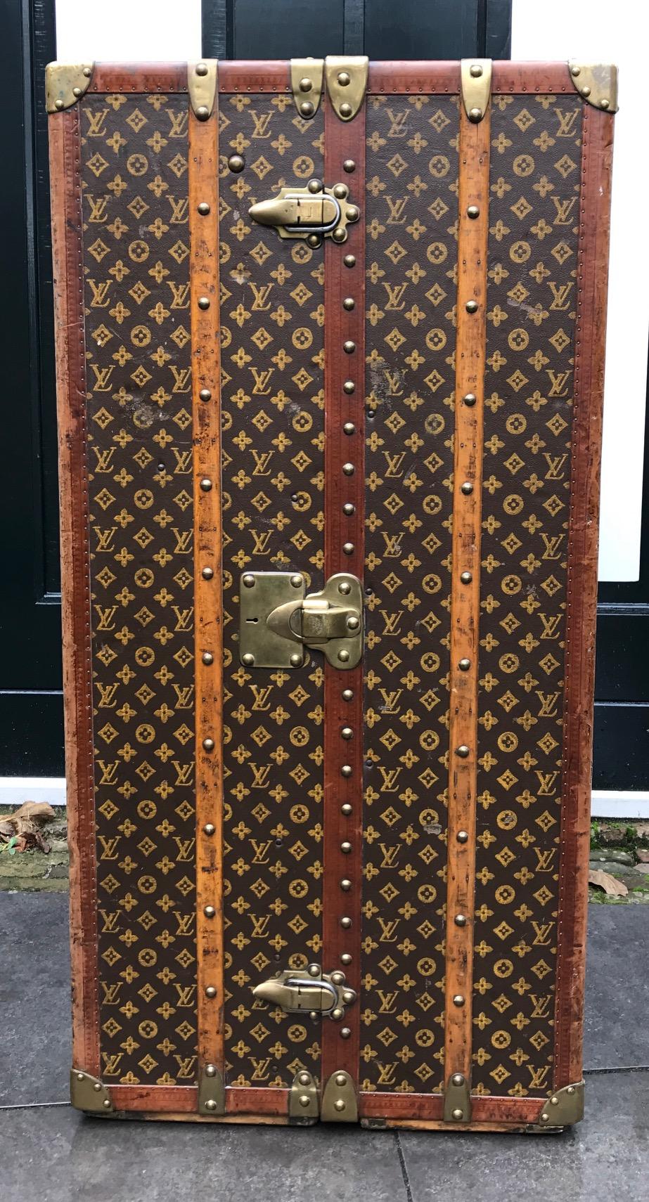 antique louis vuitton wardrobe trunk - c f h  philidelphia