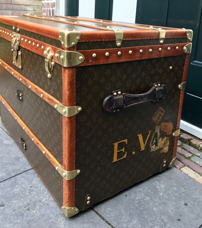 Vintage Louis Vuitton coffee table trunk E V Pinth Vintage Luggage