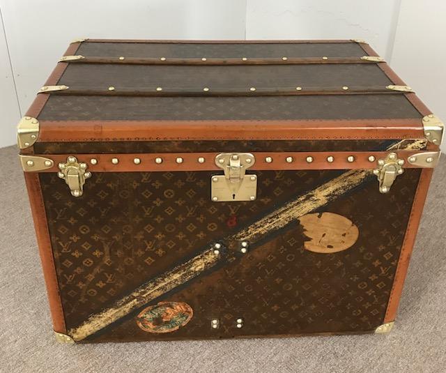 Antique Louis Vuitton hatbox trunk -private secretary Maharajah Hari Singh  - Pinth Vintage Luggage f59027a64d5f