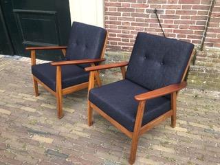 Home✦Uncategorized✦Vintage Danish Design Chairs U2013 Raw Denim. ; 